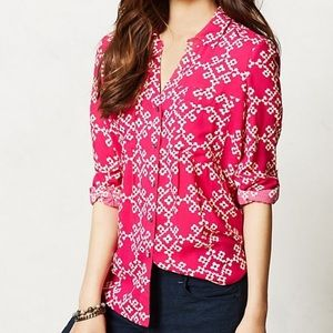 Anthropologie Maeve Overland Button Up Blouse 8